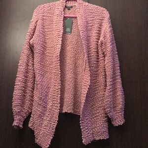 Wild Fable Old Rose popcorn Cardigan chenille XL